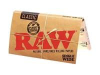 Бумага для самокруток RAW SINGLE WIDE DOUBLE 70 мм (100 листов)