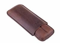 Чехол P&A на 2 сигары Черчилль, натуральная буйволиная кожа C120-Buffalo