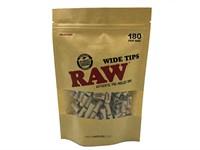 Фильтры для самокруток Raw Prerolled Tips WIDE бумажные (18 x7,2 мм) 180 шт