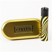 Зажигалка Clipper Gold and Black Psychedelic Lighter в под.уп