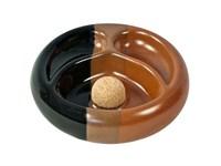 Пепельница для 2-х трубок  Ceramica Tripepi 9215 Black/leather
