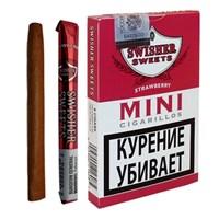 Сигариллы Swisher Sweets Strawberry Mini Cigarillos (6 шт.)