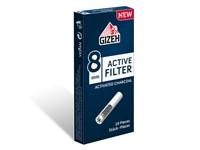 Фильтры для самокруток Gizeh Active (угольные) 8 мм (10 шт)