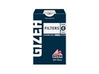 Фильтры для самокруток Gizeh 8 мм Угольные 100 шт