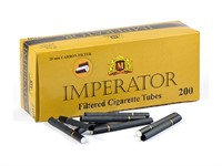 Гильзы для сигарет IMPERATOR BLACK CARBON 20 мм (200 шт.)